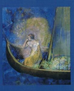 La Barque, Ca 1900, Odilon Redon. Musée Stedelijk, Amsterdam