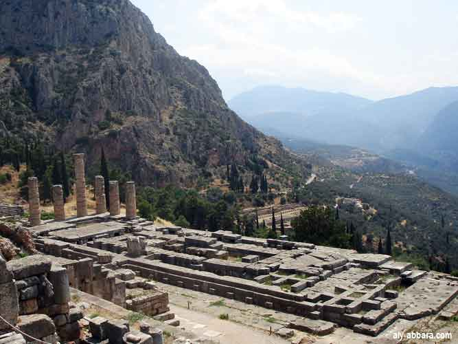 Apollo's temple in Delphi